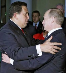 President Chavez and Russian Prime Minister Vladimir Putin, during Chavez last visit to Moscow
