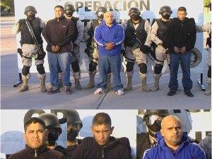 Three suspected arrested sicarios.